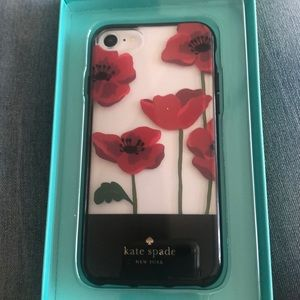 Kate Spade Red Poppy I-phone case NWT